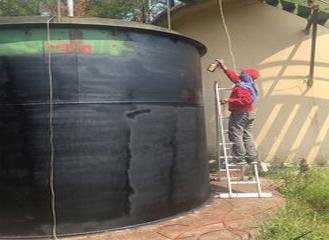 沼气维护施工图片